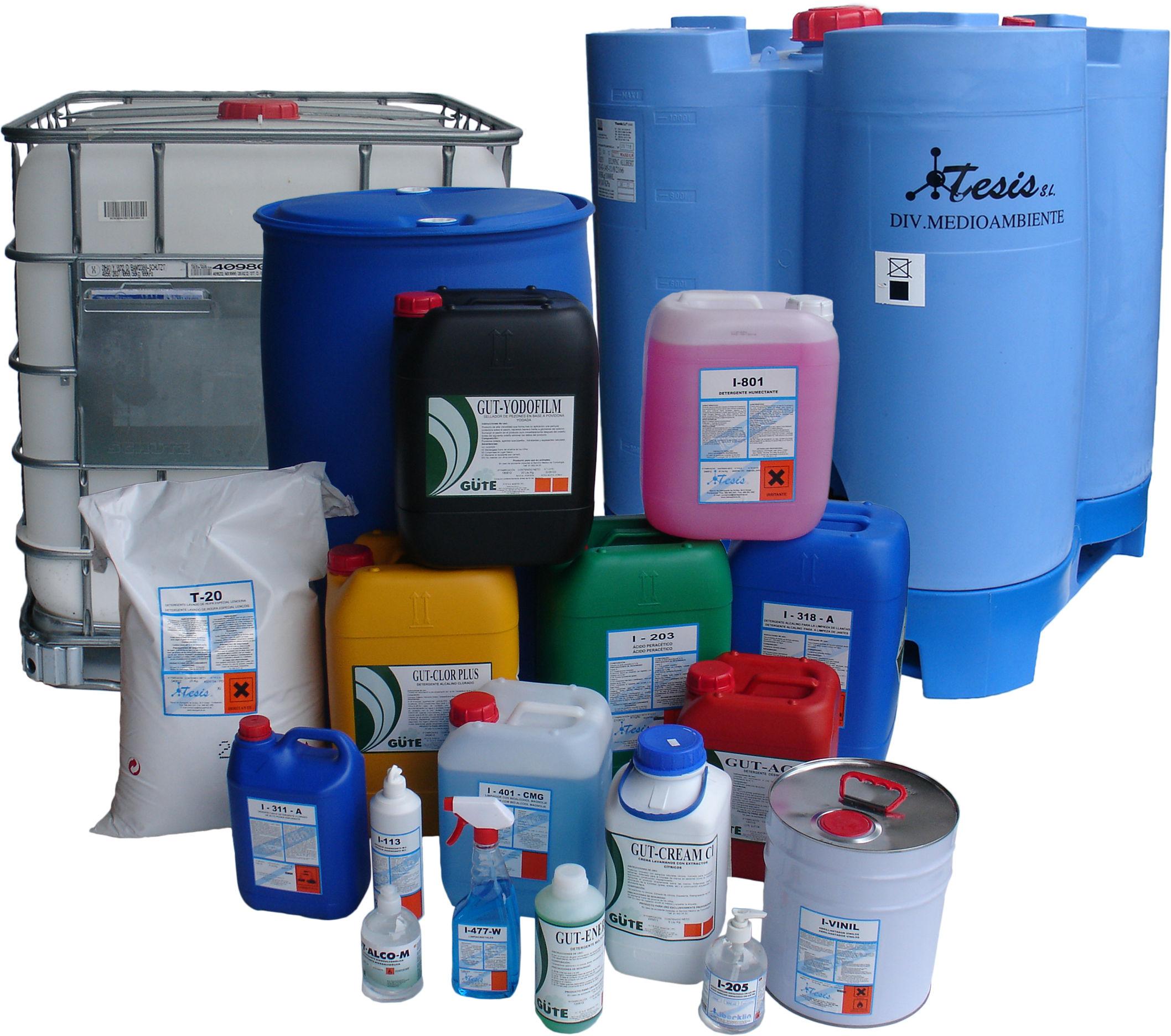 Productos quimicos de limpieza industrial